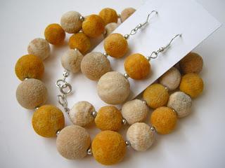 biżuteria z półfabrykatów - koral matowy (komplet)