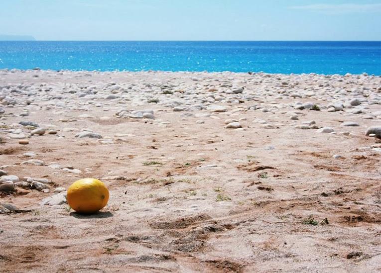 melon na plaży