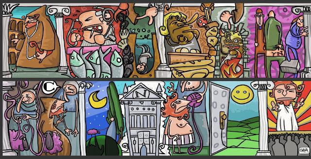 Pubblico Ascanio Celestini Gava Satira Vignette  Inserto per bambini favola gavavenezia gavavenezia.it illustrazioni