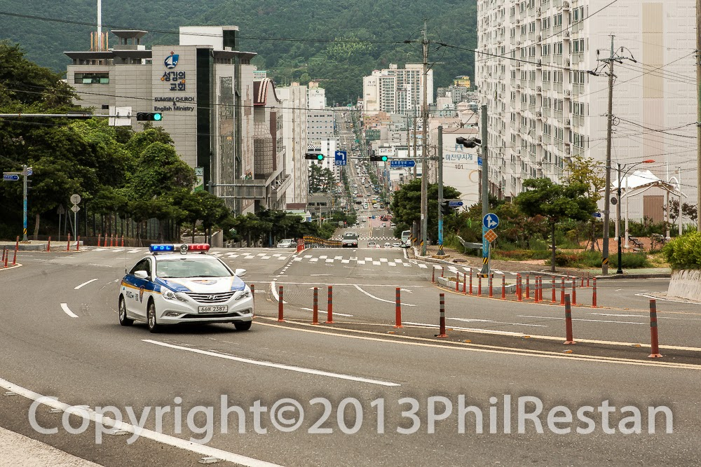Main road into Okpo , South Korea.