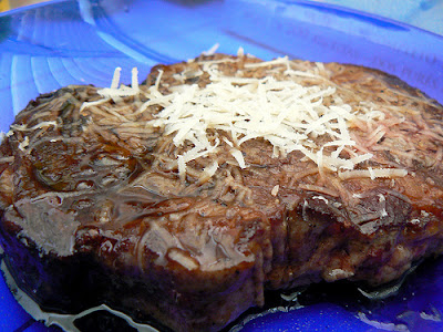 Prime steak with Parmesan and Cointreau