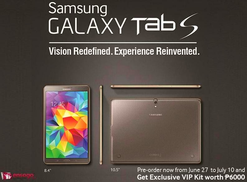 Get VIP Kit Worth Php6,000 When You Pre-order Samsung Galaxy Tab S 8.4 and 10.5