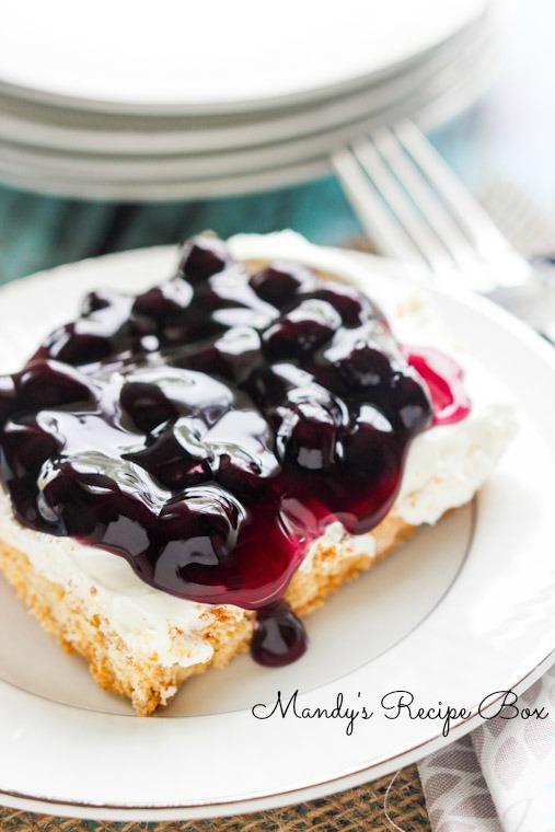 Blueberry Cheesecake Bars | Mandy's Recipe Box