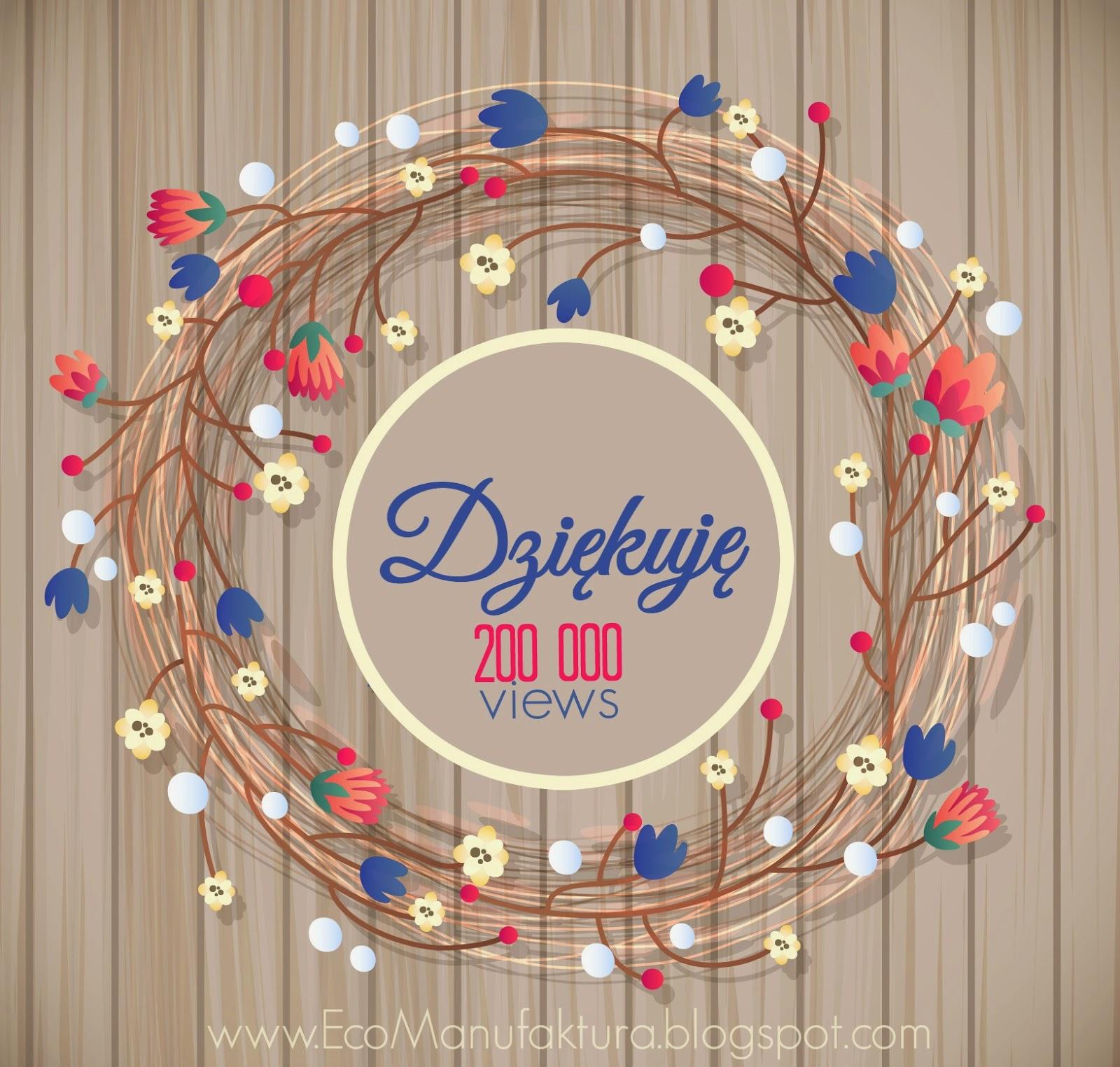 200 000 wejść na bloga. Podziękowanie blog decoupage