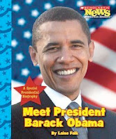 bookcover of MEET PRESIDENT BARACK OBAMA (Scholastic News Nonfiction Readers) by Laine Falk