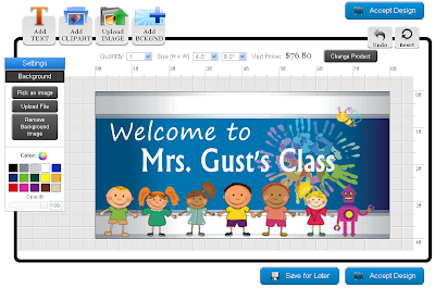 Back to School Banner Template in Online Designer