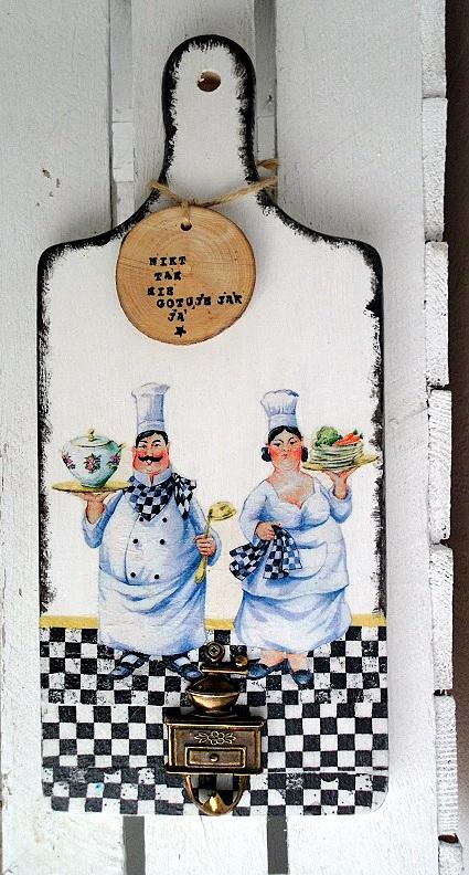 Deska z kucharzami