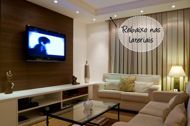 Salas De Tv Decoradas Com Gesso