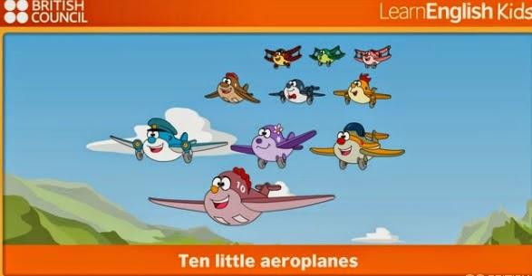 http://learnenglishkids.britishcouncil.org/en/songs/ten-little-aeroplanes