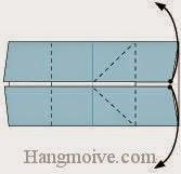 Bước 2: Mở hai lớp giấy ra, kèo về phía bên trái.