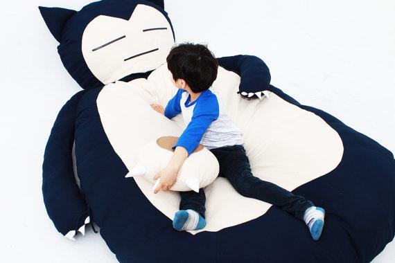 ポケモンのカビゴンっぽいベッド