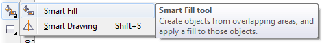 Mengenal bagian CorelDRAW - Smart Fill Tool
