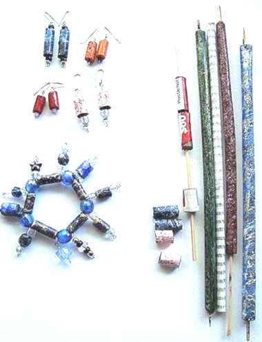 recycled paper beads instructions