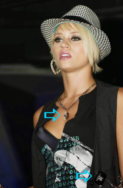 Kim Wyatt of the Pussycat Dolls wearing a Jenny Dayco necklace
