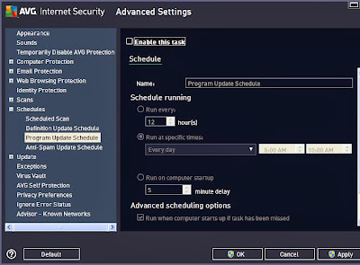 disable program updates avg 2013
