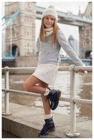 Mimo & Co faldas otoño invierno 2015, moda otoño invierno 2015 infantil.
