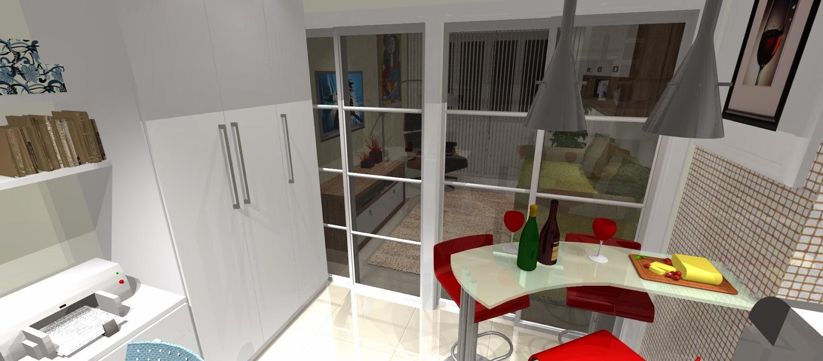Copa Cozinha Conjugada Como Fazer A Decorao De Uma Sala Pequena  -> Quarto Sala E Cozinha Conjugadas