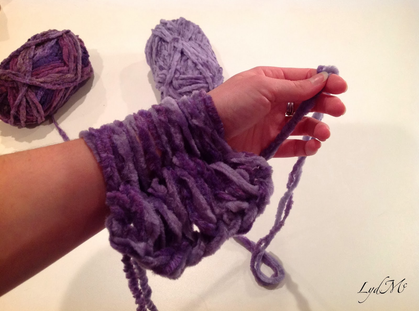 Lydmc arm knitting the literally handmade moebius scarf stylish yarn cuffs are all the rage bankloansurffo Choice Image