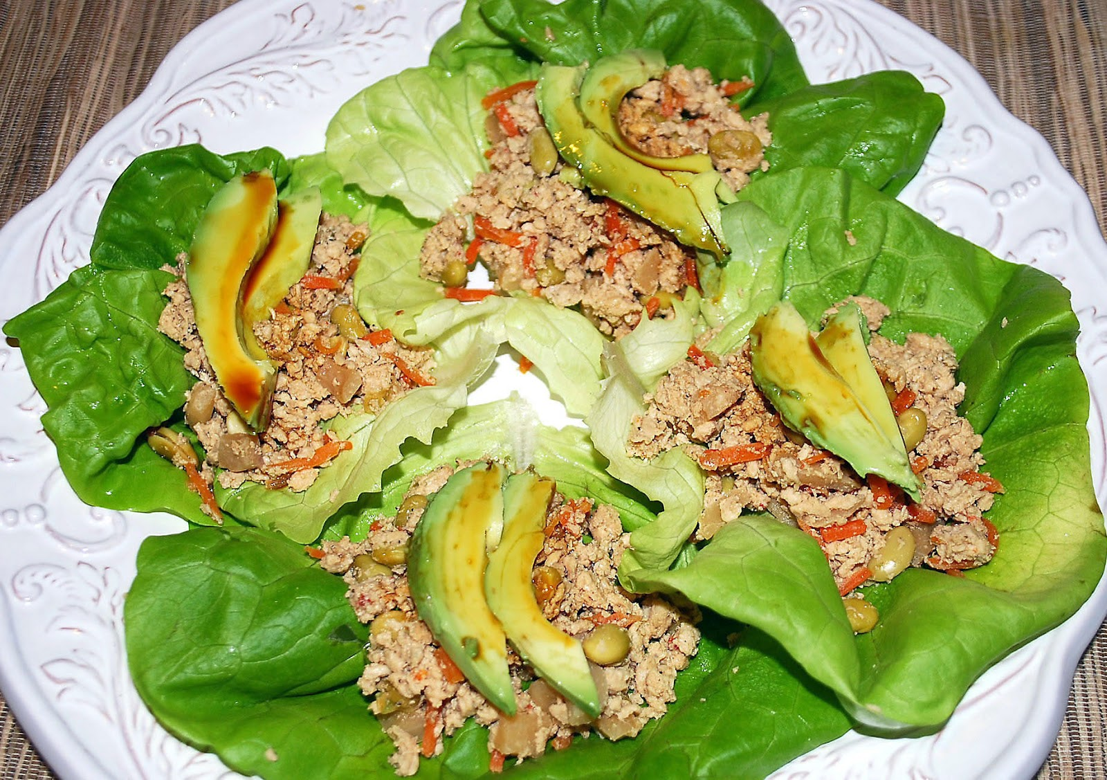 Seven Spice Pork Lettuce Wraps Recipe — Dishmaps