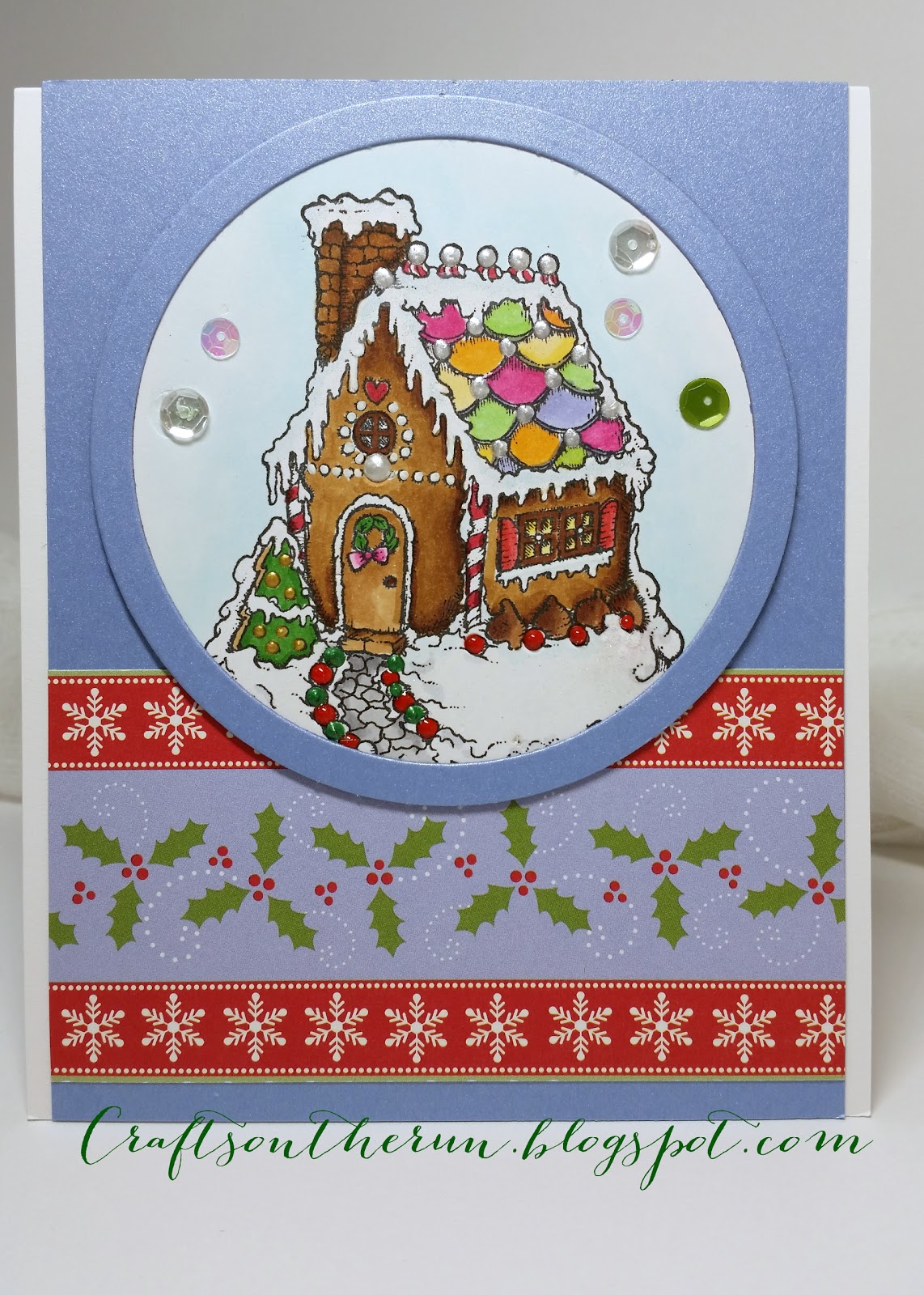 Power Poppy, Christmas Cards, Gingerbread house stamp