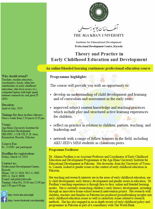 professional development in early childhood education essay