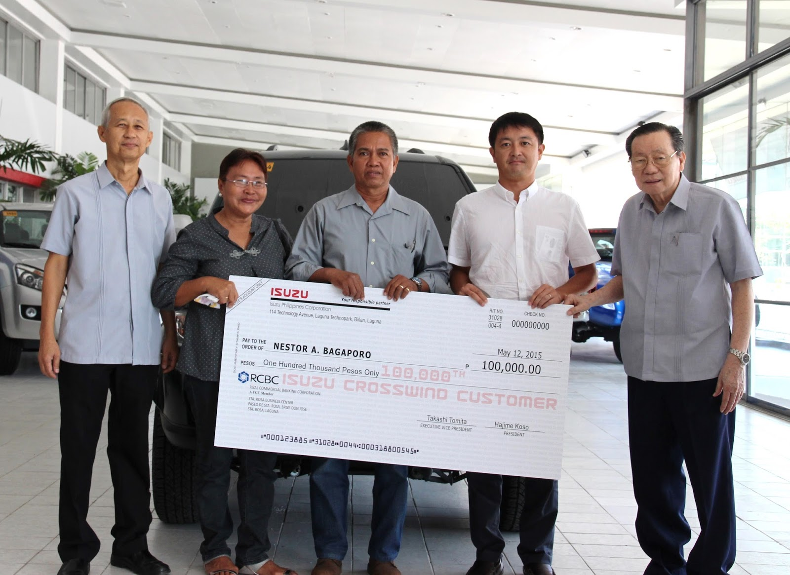 Isuzu 100,000th Crosswind owner