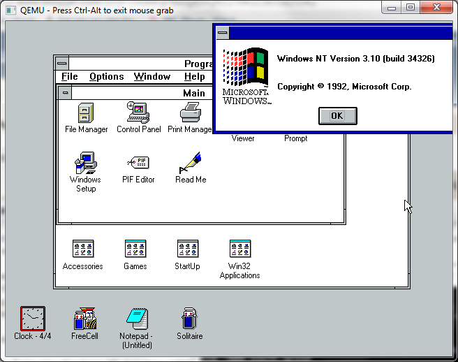 ... 1992 version of Win32s is available here