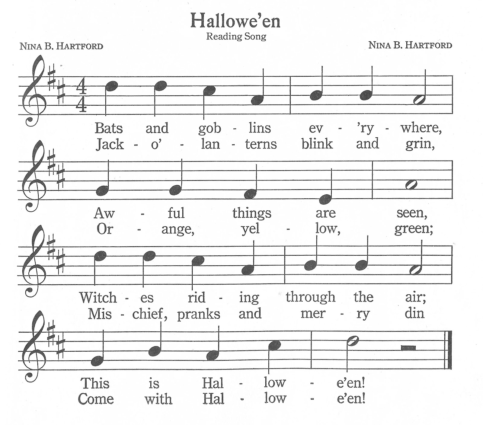 Antique Graphics Wednesday - 6 Autumn & Halloween Songs - Knick of ...