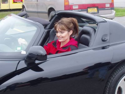 photo of Sarah Palin  - car