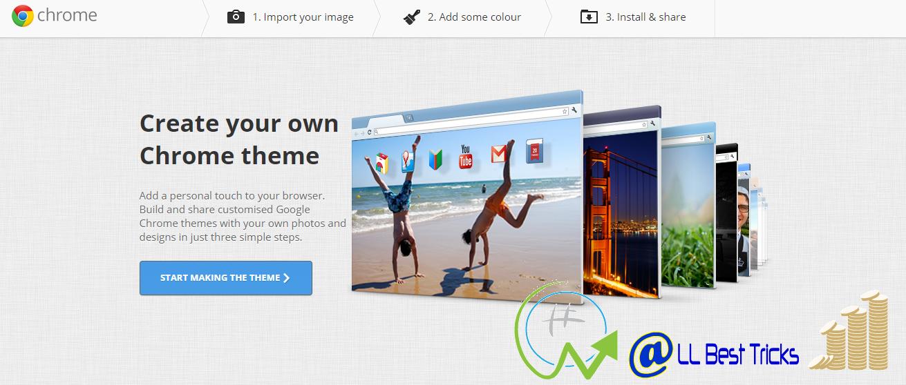 Google chrome theme online