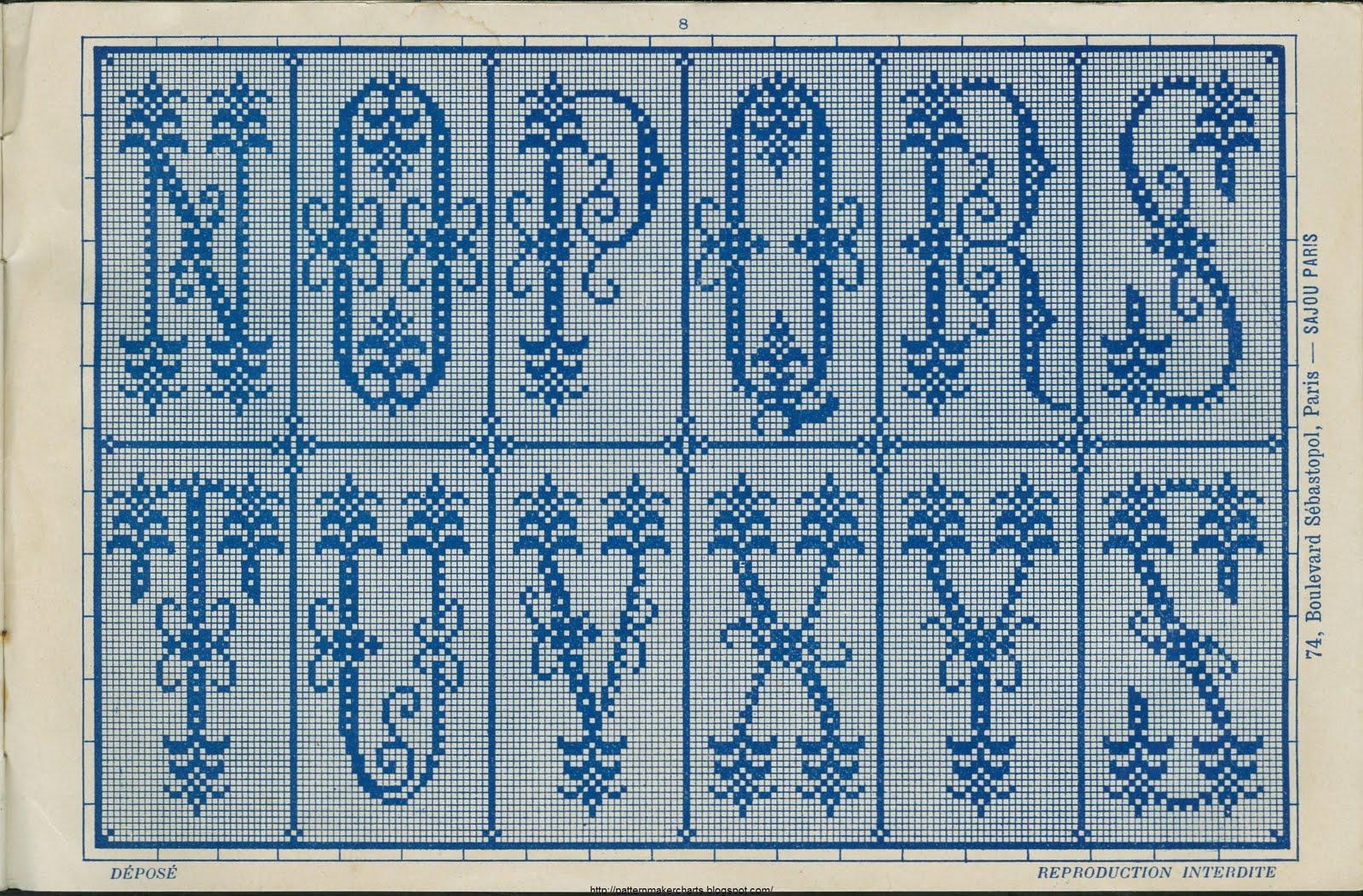 Буквы алфавита (схемы крючок, спицы, филейка). Обсуждение на 33