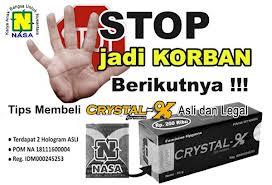 harga crystal x asli nasa