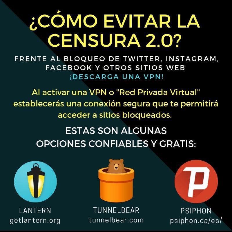 Si estás en Venezuela y no puedes acceder a algunos de los enlaces