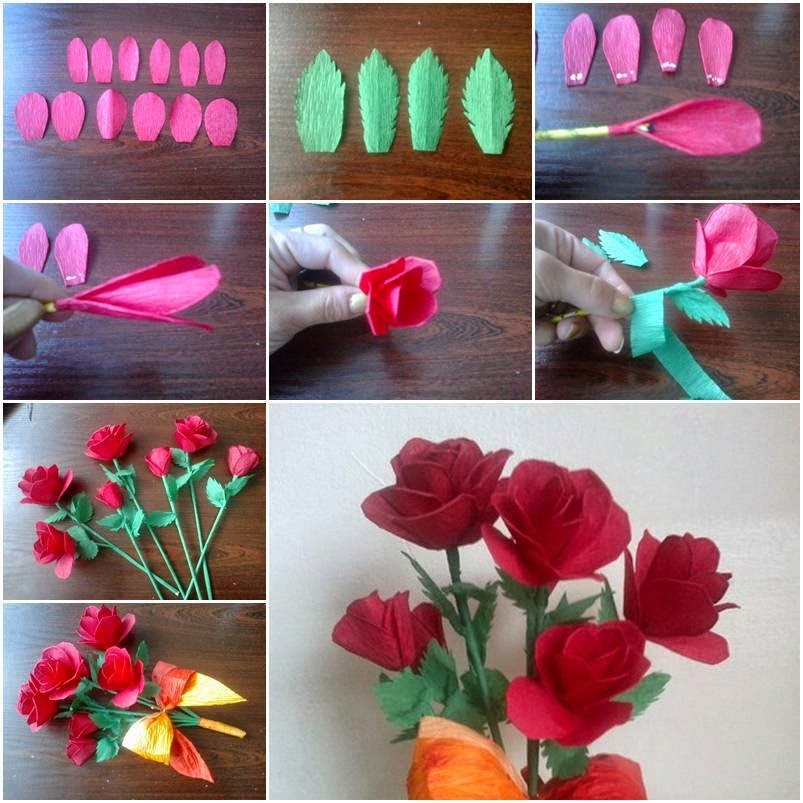 Mini tutos kimmy junio 2014 for Flower making ideas step by step