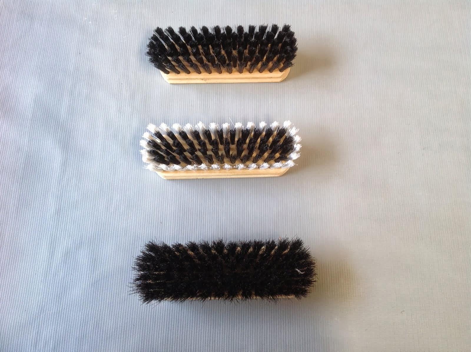 Escova para sapato de nylon, Escova tira lã e Escova para sapato de crina