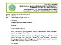 Contoh Surat Proposal Pengadaan Al Quran