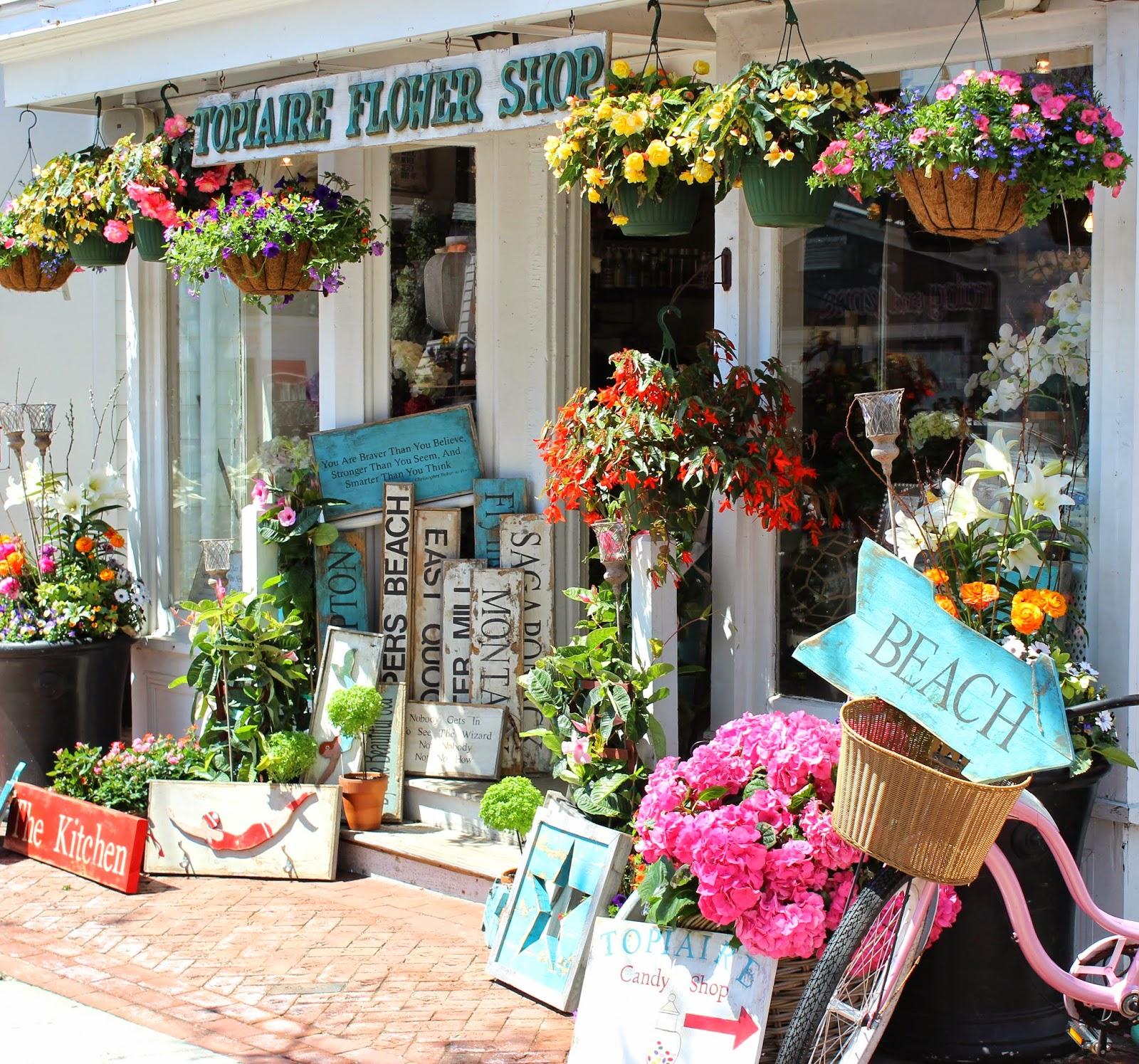 Painting The Hamptons: Topiaire Flower Shop