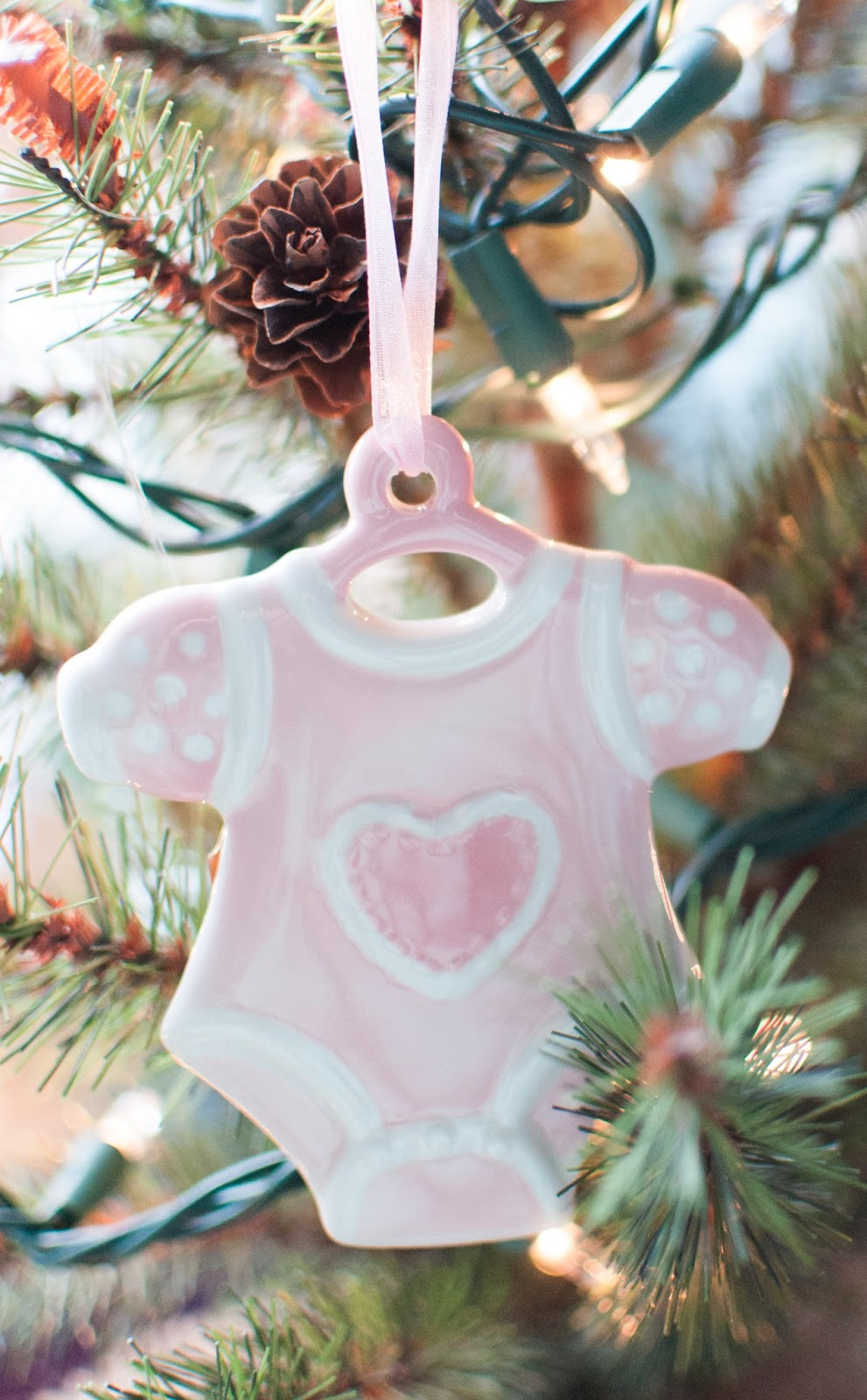 Baby loss ornaments - I Also Won This Pregnancy And Infant Loss Remembrance Ribbon From That Same Sgm Giveaway I Thought It Would Be Nice To Hang It On Their Tree At Christmas