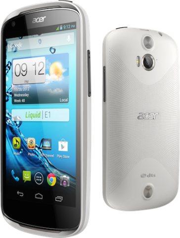 Spessore di 9,9 millimetri, fotocamera da 5 mega pixel per lo smartphone jelly bean Liquid E1 che sarà venduto nel 2013 da Acer