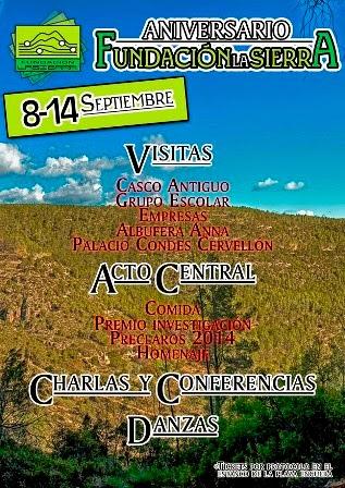 Aniversario Fundación la Sierra CV,
