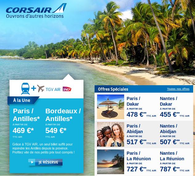 Billets Antilles 469 euros - Voyage Guadeloupe et Martinique