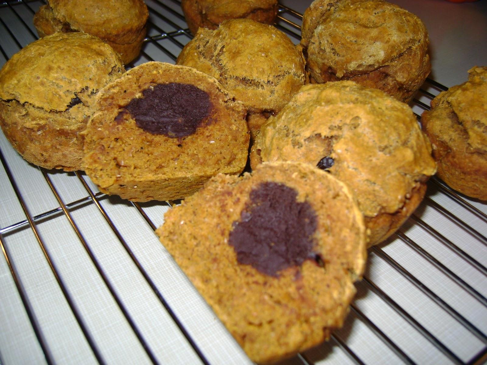 Muffin à la citrouille et truffes au chocolat