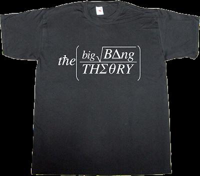 The Big Bang Theory TV t-shirt ephemeral-t-shirts