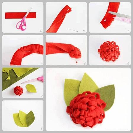 Flores de fieltro paso a paso manualidades faciles - Como hacer manualidades faciles ...