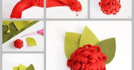 Flores de fieltro paso a paso manualidades faciles - Manualidades de fieltro paso a paso ...
