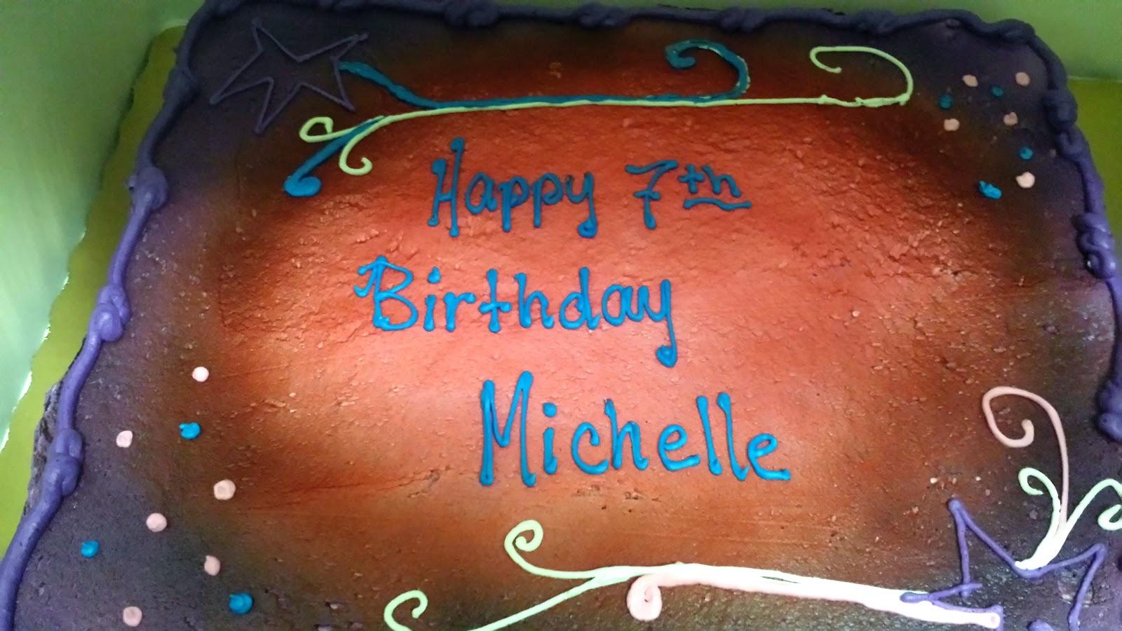 Happy 7th Birthday Michelle