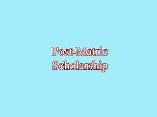 WBMDFC Post Matric Scholarship 2013-14