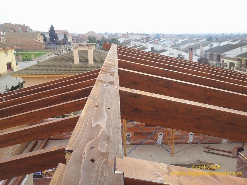 Estructura de madera mecanizada