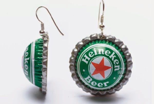 recycled craft, bottle cap jewelry