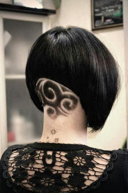 impressive hair tattoos girls